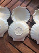 Lot de 6 coquilles Saint Jacques en céramique de la marque E