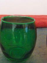 Lot De 6 Verres En Verre Transparent Multicolore- Neuf