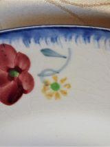 Assiettes creuses peintes mains - lot de 2.