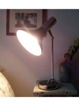 Lampe de bureau noire/chrome - 70's