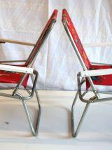 Paire de fauteuils pliants enfant