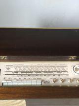 VINTAGE Meuble Radio à lampe, Tourne disque