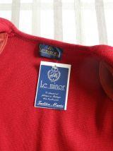 Gilet long Le Minor en  maille années 70 Fabriquée en France