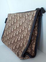 Christian Dior pochette/sac cuir & toile monogramme Dior