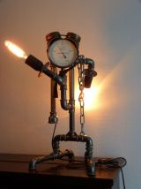 Lampre steampunk indus upcycling vintage