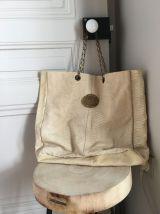 Grand sac cuir Sous les pavés