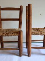 Duo de chaises paillées enfant