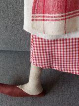 Poupée lutin en tissu ancien la cuisinière