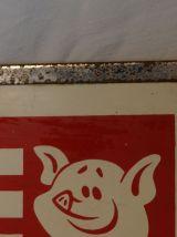 Ancienne plaque de boucherie