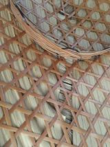 Chapeau de paille asiatique vintage