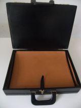 Valise/Valisette de représentant en cuir vintage