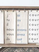 Ancien tableau de conjugaison scolaire.