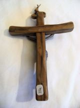 Croix crucifix en bois jésus vintage