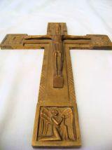 """Croix en bronze signée """"Jacques frères"""""""