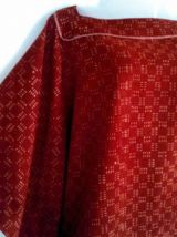 Caftan, top court coton, imprimé à la main, Inde,T.U