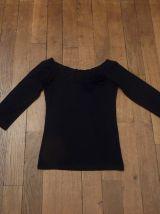 Top Noir Manches 3/4 - Taille 34/36- La Redoute