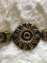 Bracelet vintage en bronze M.BUFFET
