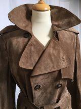 Trench-coats en croûte de cuir vintage T46/48