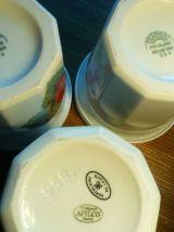 Pots porcelaine conf Pillivuyt Apilco fraise abricot cerises
