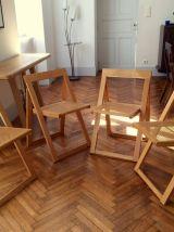 Série de quatre chaises design Aldo Jacober