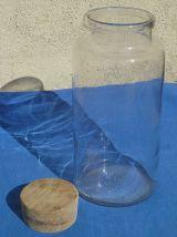 bocal  en verre  avec  bouchon  bois