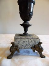 Porte bougie chandelier 4 bougies en bronze