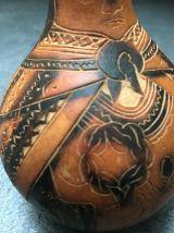 Gourde sculptée main péruvienne