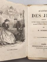 Académie des Jeux F. Dumesnil Ed. 1865 règles de 48 jeux anc