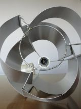 Lampe suspension MAX SAUZE en aluminium années 70