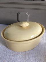 Anciens pots à foie gras en faïence de Sarreguemines