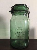 Set de trois bocaux en verre épais DURFOR