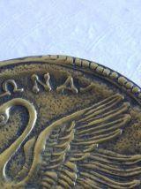 Cendrier vide poche bronze max Leverrier cygne manap