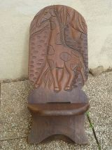 "Chaise africaine ""Girafe"""