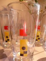 4 verres Mobil à jus de fruits liseret doré 70/80