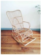 Rocking chair adulte en rotin