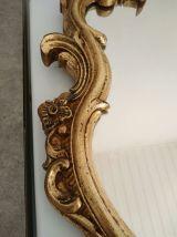miroir baroque rocaille style Louis XV bois doré