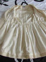 SUBLIME Manteau/Robe en tweed beige CHANEL VINTAGE