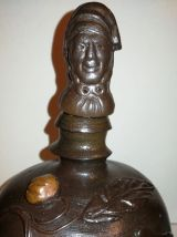 Ancienne bouteille en grès du Calavados