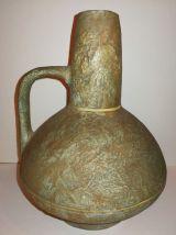 Amphore en Grès style art Egyptien Vintage