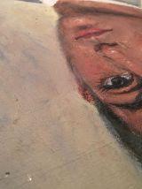 Portrait à l'huile d'homme en costume