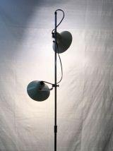 Lampadaire 2 spots «Aluminor» circa 70