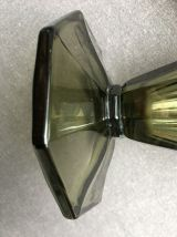 Vase en verre fumé forme tulipe art déco