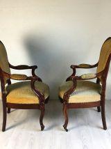 Ensemble de 4 fauteuils d'époque Louis Philippe