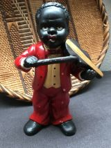 Lot de 4 figurines de musiciens de jazz Nouvelle Orléans