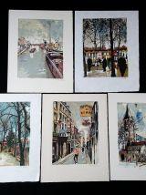 """""""Le Piéton de Paris"""" - 10 lithographies signées"""