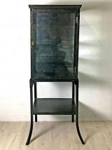 Vitrine métallique mid-century vintage