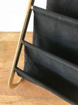 Porte-revues vintage doré