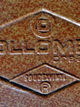 Paire de chaises en skaï marron Collomb