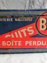 Boite fer Biscuiterie Nantaise BN vintage P cossé A Lotz and