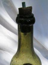 bouteille vintage sérigraphiée PERNOD FILS verre soufflé bul